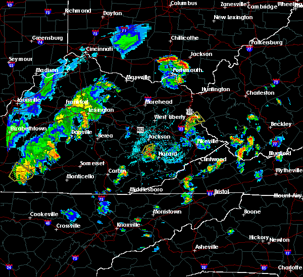 Radar Image for Severe Thunderstorms near Crum, WV at 8/20/2019 6:58 PM EDT