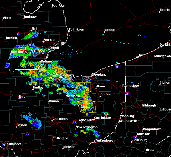 Radar Image for Severe Thunderstorms near Baltic, OH at 8/20/2019 7:03 PM EDT