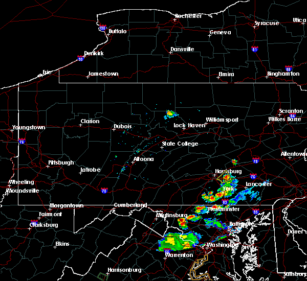 Radar Image for Severe Thunderstorms near Highspire, PA at 8/20/2019 7:10 PM EDT