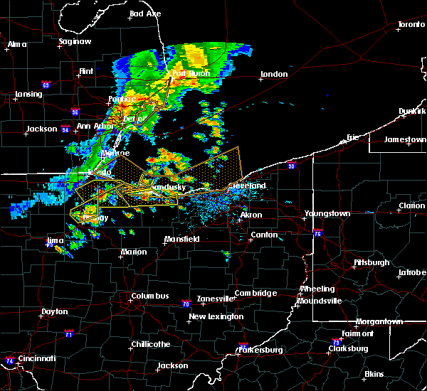 Radar Image for Severe Thunderstorms near Woodville, OH at 6/22/2015 4:46 PM EDT