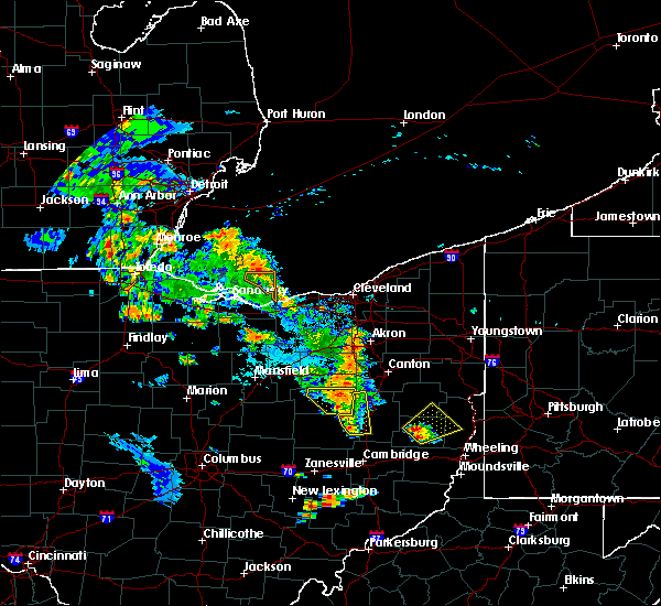 Radar Image for Severe Thunderstorms near Dundee, OH at 8/20/2019 7:21 PM EDT