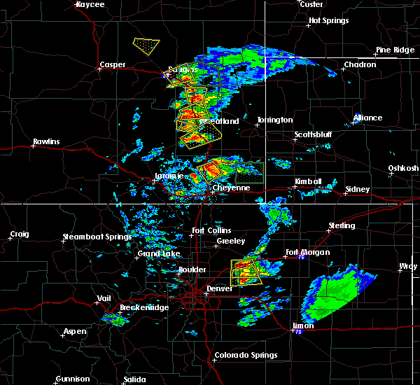 Radar Image for Severe Thunderstorms near Douglas, WY at 8/20/2019 6:09 PM MDT