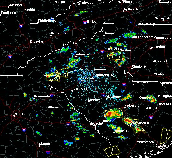 Radar Image for Severe Thunderstorms near Rosman, NC at 6/22/2015 4:53 PM EDT