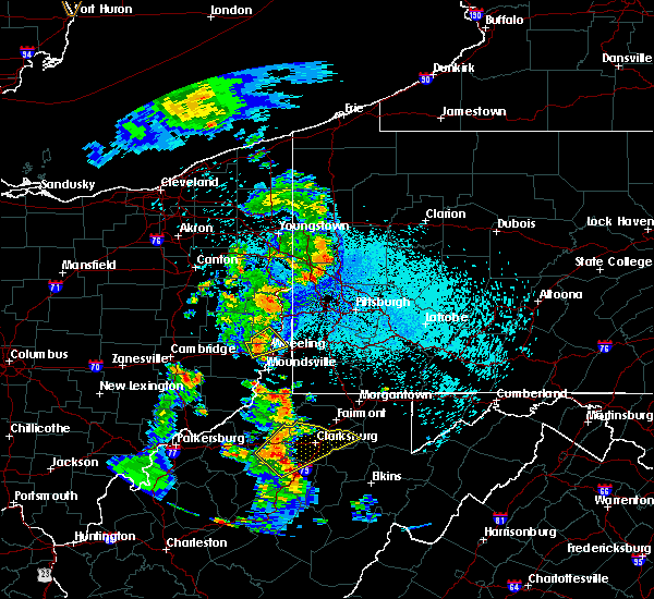 Radar Image for Severe Thunderstorms near Mount Pleasant, OH at 8/20/2019 9:55 PM EDT