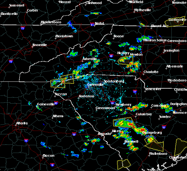 Radar Image for Severe Thunderstorms near Rosman, NC at 6/22/2015 5:06 PM EDT