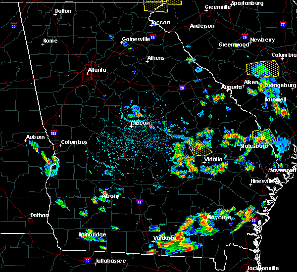 Radar Image for Severe Thunderstorms near Adrian, GA at 6/22/2015 5:11 PM EDT