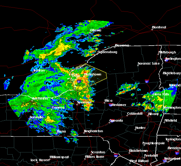 Radar Image for Severe Thunderstorms near Oxbow, NY at 8/21/2019 7:45 AM EDT