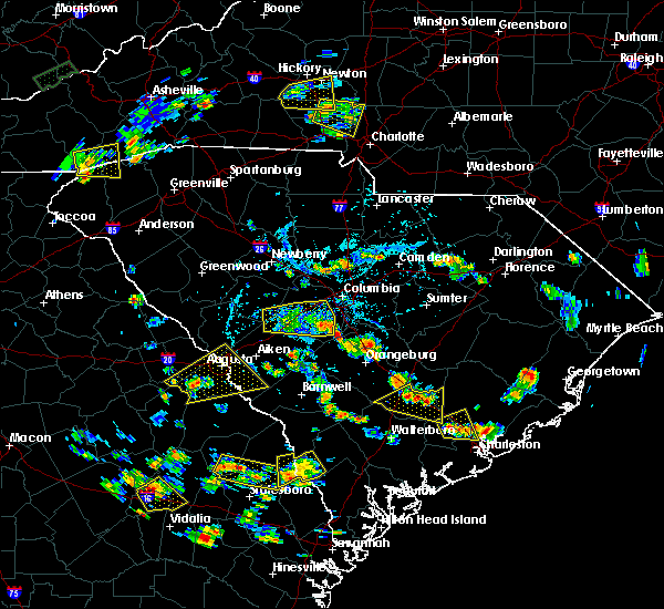 Radar Image for Severe Thunderstorms near Belvedere, SC at 6/22/2015 5:18 PM EDT
