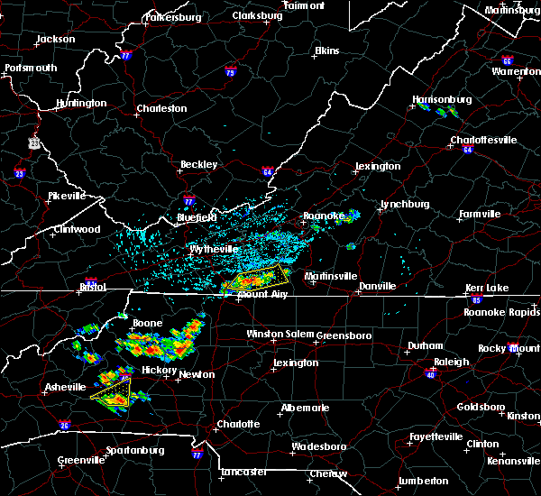 Radar Image for Severe Thunderstorms near Fancy Gap, VA at 8/21/2019 3:47 PM EDT