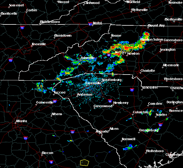 Radar Image for Severe Thunderstorms near Lenoir, NC at 8/21/2019 4:39 PM EDT