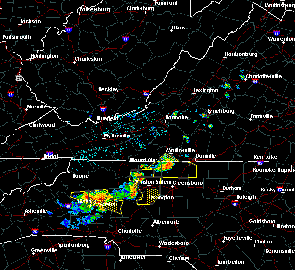 Radar Image for Severe Thunderstorms near High Point, NC at 8/21/2019 5:08 PM EDT