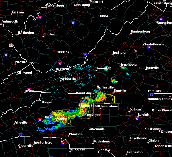 Radar Image for Severe Thunderstorms near High Point, NC at 8/21/2019 5:30 PM EDT