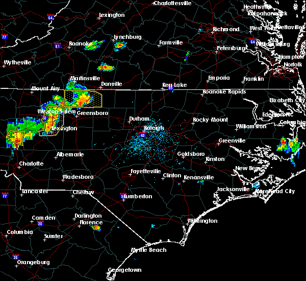 Radar Image for Severe Thunderstorms near Thomasville, NC at 8/21/2019 5:47 PM EDT