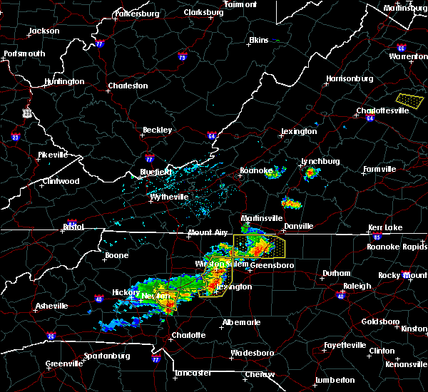 Radar Image for Severe Thunderstorms near High Point, NC at 8/21/2019 5:49 PM EDT