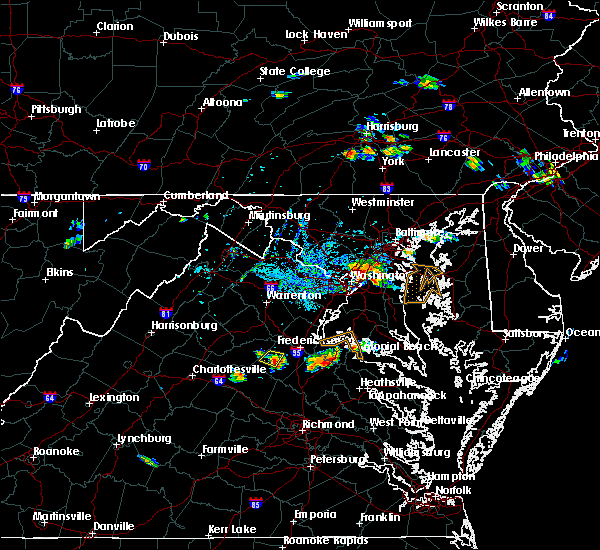 Radar Image for Severe Thunderstorms near Woodmore, MD at 8/21/2019 6:17 PM EDT