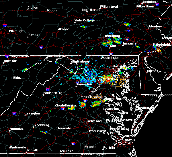 Radar Image for Severe Thunderstorms near Woodmore, MD at 8/21/2019 6:38 PM EDT