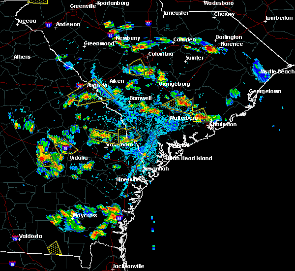 Radar Image for Severe Thunderstorms near Lincolnville, SC at 6/22/2015 5:32 PM EDT