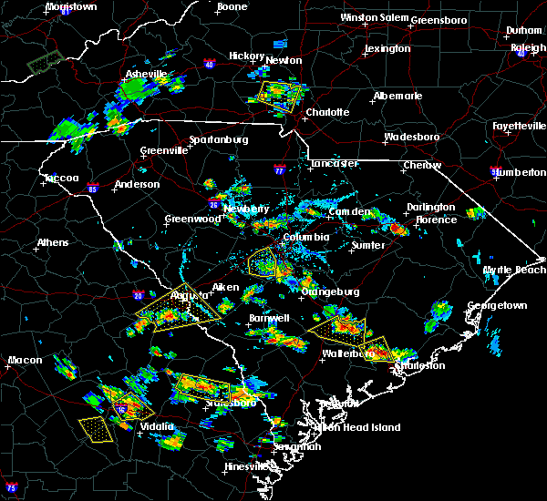 Radar Image for Severe Thunderstorms near Belvedere, SC at 6/22/2015 5:35 PM EDT