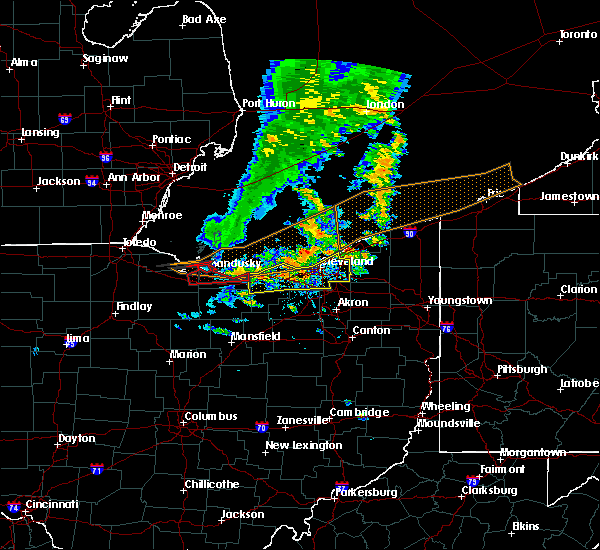 Radar Image for Severe Thunderstorms near Vermilion, OH at 6/22/2015 5:38 PM EDT