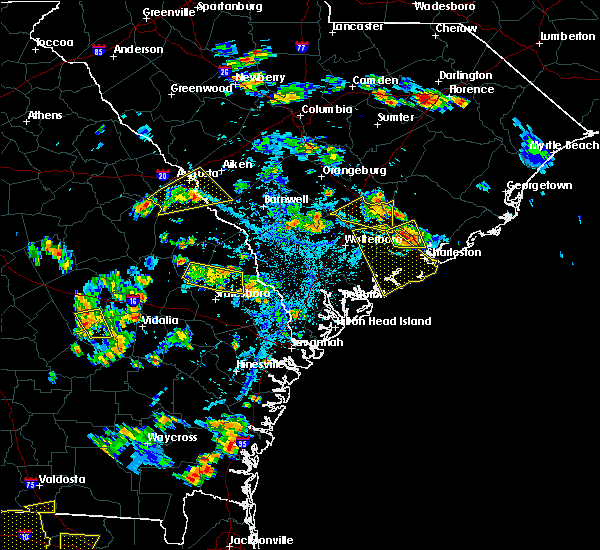 Radar Image for Severe Thunderstorms near Edisto Beach, SC at 6/22/2015 5:51 PM EDT
