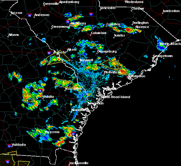 Radar Image for Severe Thunderstorms near Lincolnville, SC at 6/22/2015 5:50 PM EDT