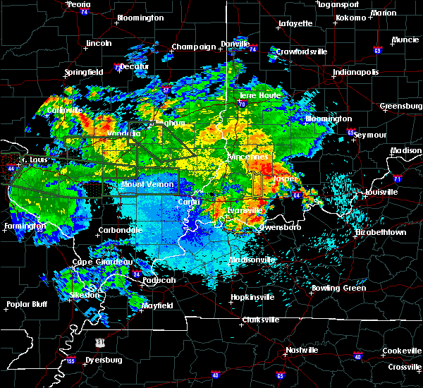 Radar Image for Severe Thunderstorms near Otwell, IN at 8/22/2019 1:54 AM EDT