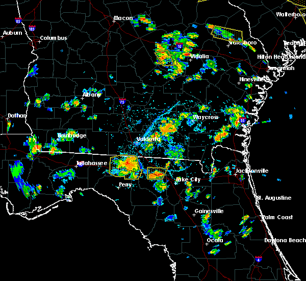 Radar Image for Severe Thunderstorms near Madison, FL at 6/22/2015 5:54 PM EDT