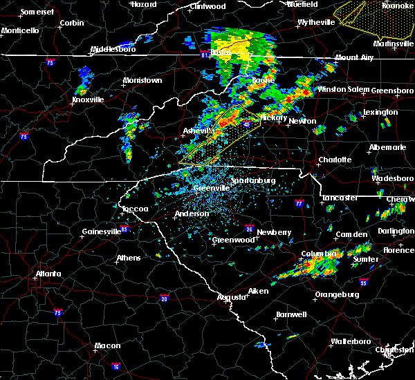 Radar Image for Severe Thunderstorms near Hendersonville, NC at 8/22/2019 1:59 PM EDT