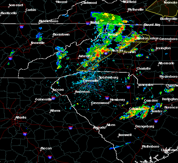 Radar Image for Severe Thunderstorms near Tryon, NC at 8/22/2019 2:23 PM EDT