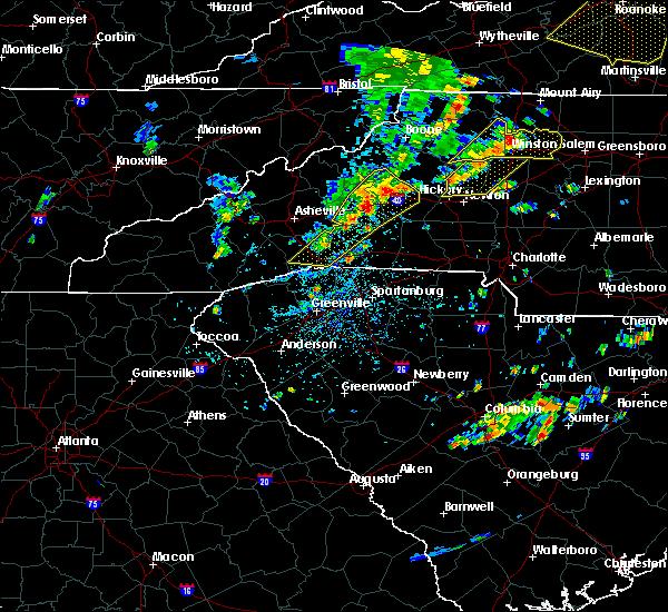 Radar Image for Severe Thunderstorms near Hendersonville, NC at 8/22/2019 2:23 PM EDT