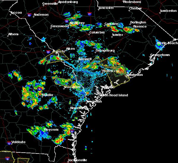 Radar Image for Severe Thunderstorms near Branchville, SC at 6/22/2015 5:58 PM EDT