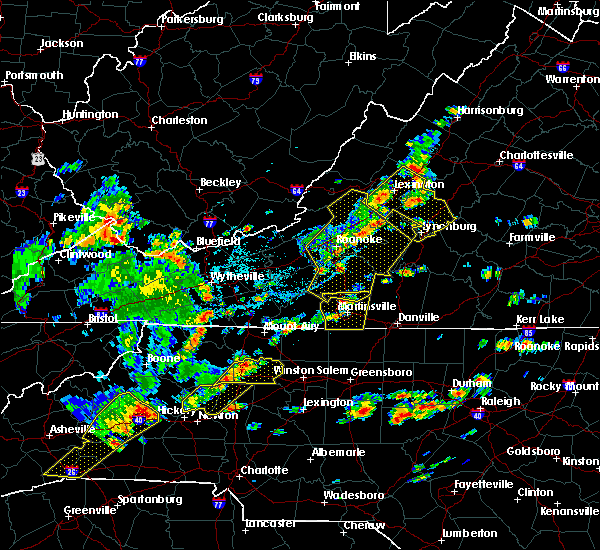 Radar Image for Severe Thunderstorms near Timberlake, VA at 8/22/2019 2:35 PM EDT