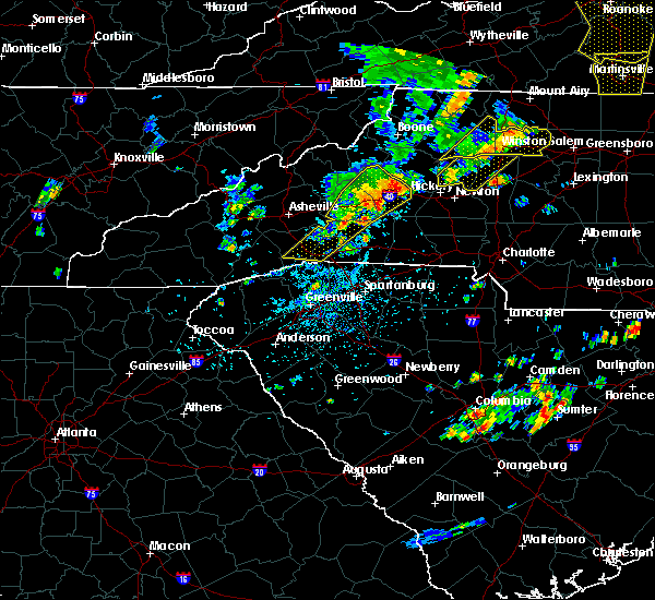 Radar Image for Severe Thunderstorms near Chimney Rock Village, NC at 8/22/2019 2:37 PM EDT