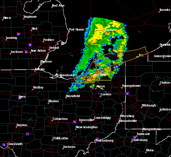 Radar Image for Severe Thunderstorms near Broadview Heights, OH at 6/22/2015 6:00 PM EDT