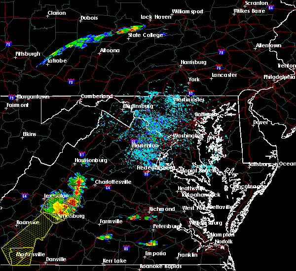 Radar Image for Severe Thunderstorms near University of Virginia, VA at 8/22/2019 3:23 PM EDT