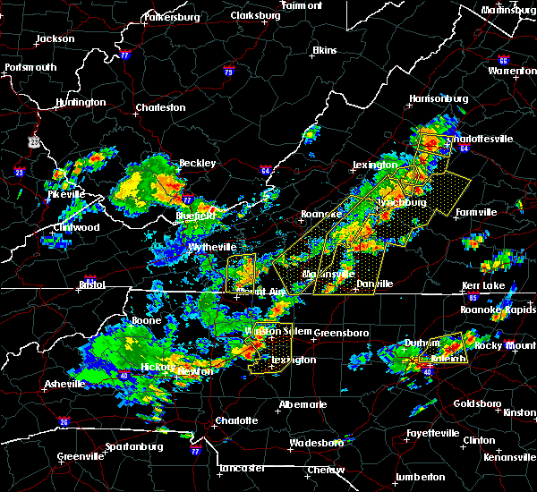 Radar Image for Severe Thunderstorms near Fancy Gap, VA at 8/22/2019 3:41 PM EDT