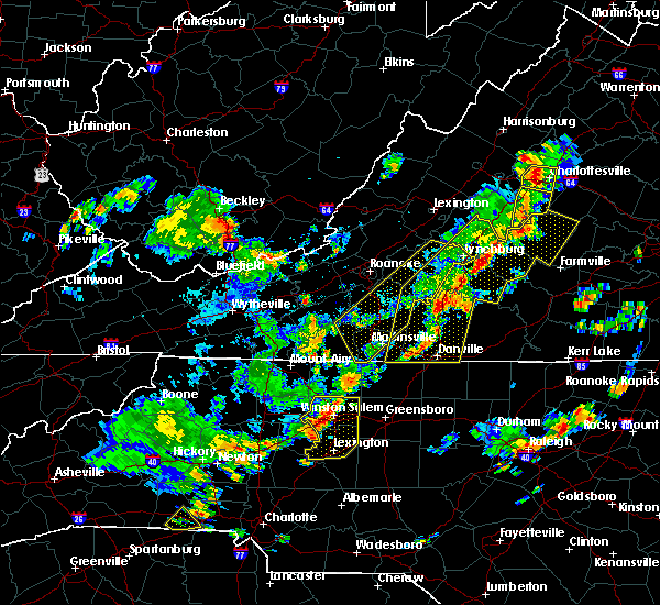 Radar Image for Severe Thunderstorms near High Point, NC at 8/22/2019 4:10 PM EDT