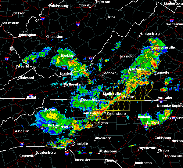 Radar Image for Severe Thunderstorms near High Point, NC at 8/22/2019 4:25 PM EDT