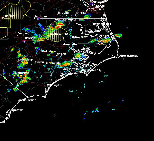 Radar Image for Severe Thunderstorms near Trenton, NC at 8/22/2019 5:17 PM EDT