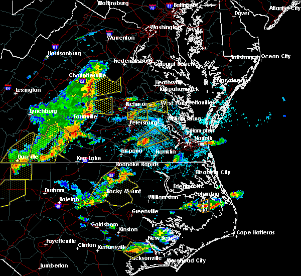 Radar Image for Severe Thunderstorms near Goochland, VA at 8/22/2019 5:19 PM EDT