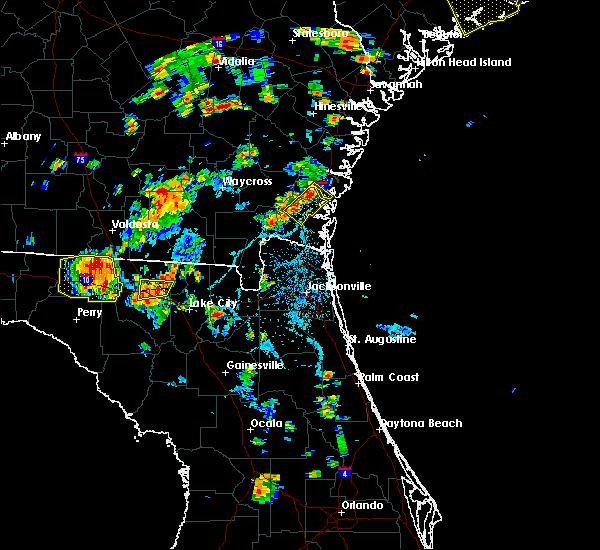 Radar Image for Severe Thunderstorms near Woodbine, GA at 6/22/2015 6:10 PM EDT