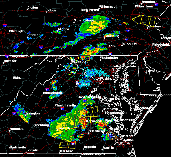 Radar Image for Severe Thunderstorms near Chewsville, MD at 8/22/2019 6:20 PM EDT