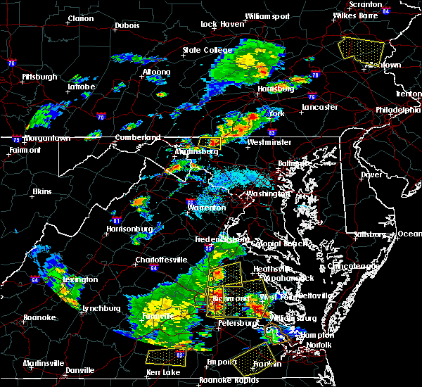 Radar Image for Severe Thunderstorms near Union Bridge, MD at 8/22/2019 6:28 PM EDT