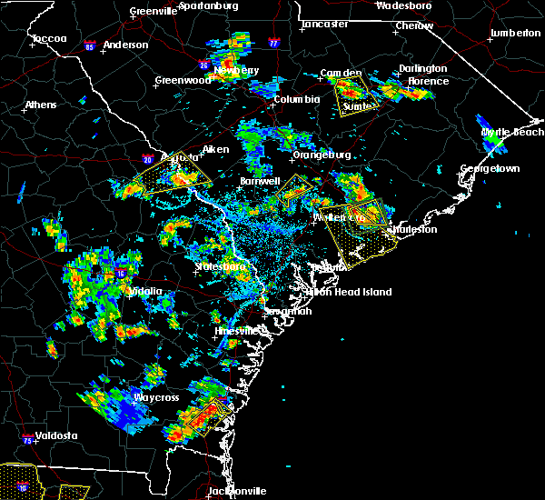 Radar Image for Severe Thunderstorms near Edisto Beach, SC at 6/22/2015 6:13 PM EDT