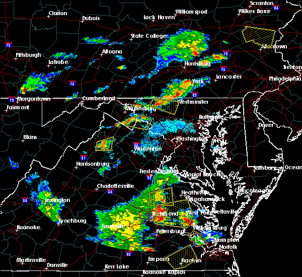 Radar Image for Severe Thunderstorms near Point of Rocks, MD at 8/22/2019 6:42 PM EDT