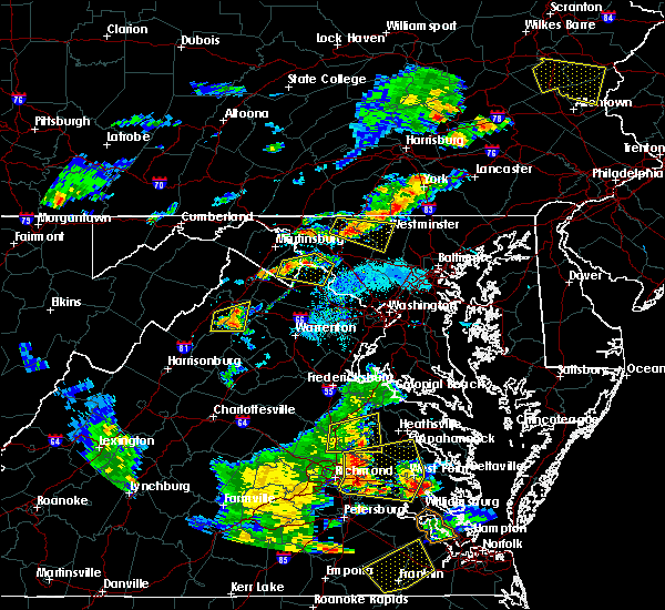 Radar Image for Severe Thunderstorms near Walkersville, MD at 8/22/2019 6:52 PM EDT