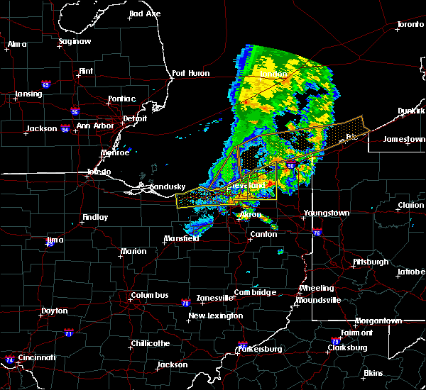 Radar Image for Severe Thunderstorms near Orange, OH at 6/22/2015 6:16 PM EDT