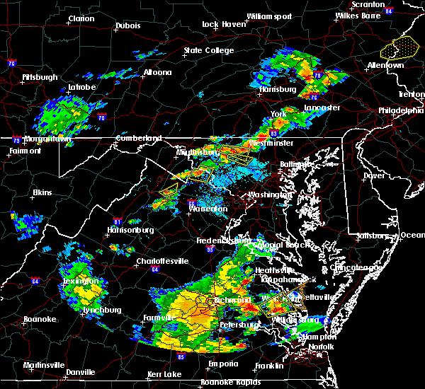 Radar Image for Severe Thunderstorms near Jarrettsville, MD at 8/22/2019 7:14 PM EDT
