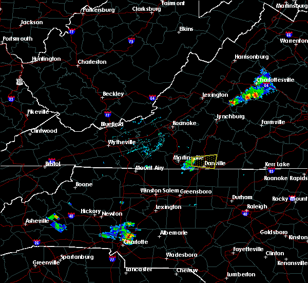 Radar Image for Severe Thunderstorms near Blairs, VA at 6/22/2015 6:16 PM EDT