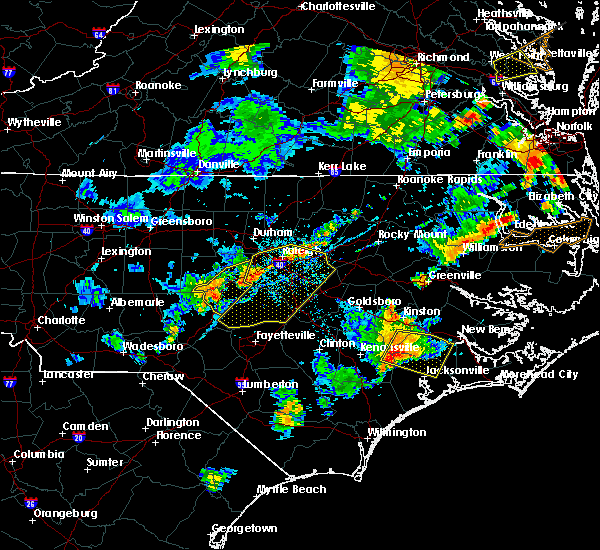 Radar Image for Severe Thunderstorms near Moncure, NC at 8/22/2019 7:24 PM EDT
